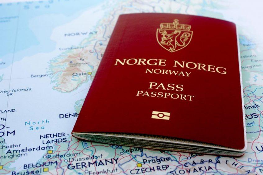 Norge på arabisk (Norsk pass på kart), betalt