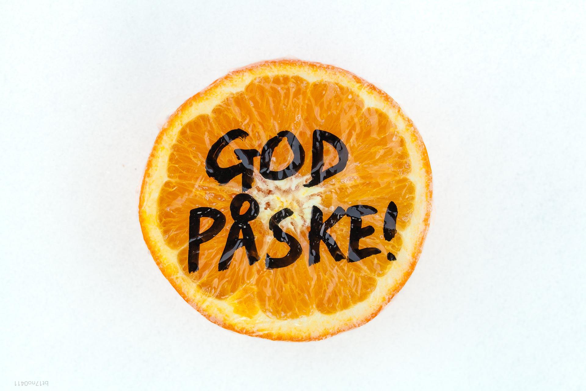 Undertøimagasinet Askim (God påske-appelsin), betalt