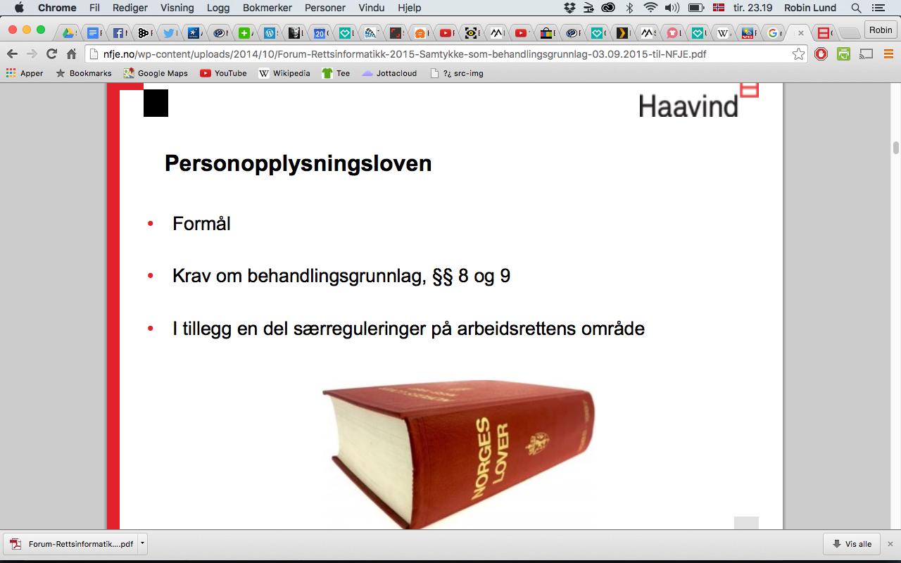 Haavind (betalt nov. 2015)
