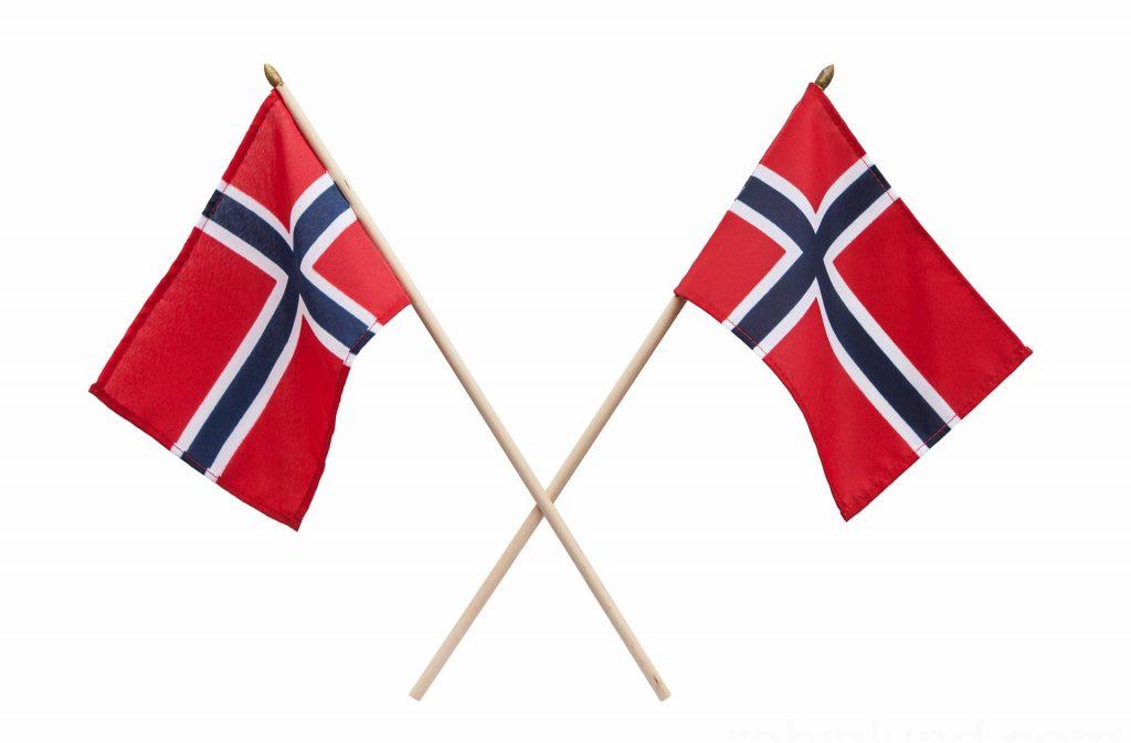 Skoringen Leiasenteret (Norske flagg i kryss)