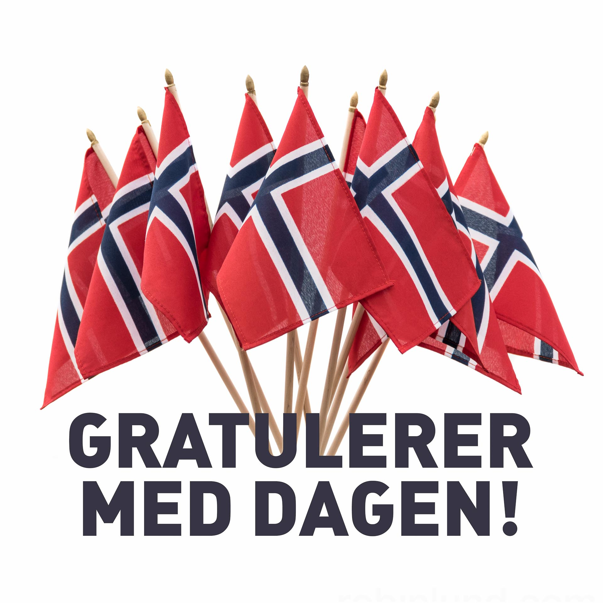 Aksdal Grill (Flaggbukett gratulasjonshilsen)